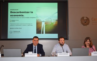 "Meeting ""Decarbonization Planning"" by Ignacio de Blas (GEEDS) in the Col-legi d'Enginyers de Camins, Canals i Ports de Catalunya"