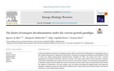 Los límites de la transición energética del transporte. Resultados del modelo MEDEAS-World